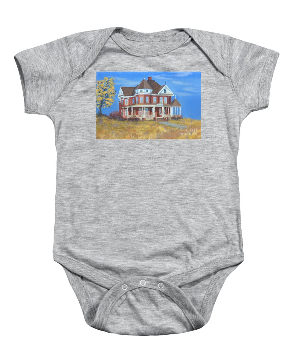 Boulder Baby Onesie featuring the painting Boulder Victorian by Jerry McElroy