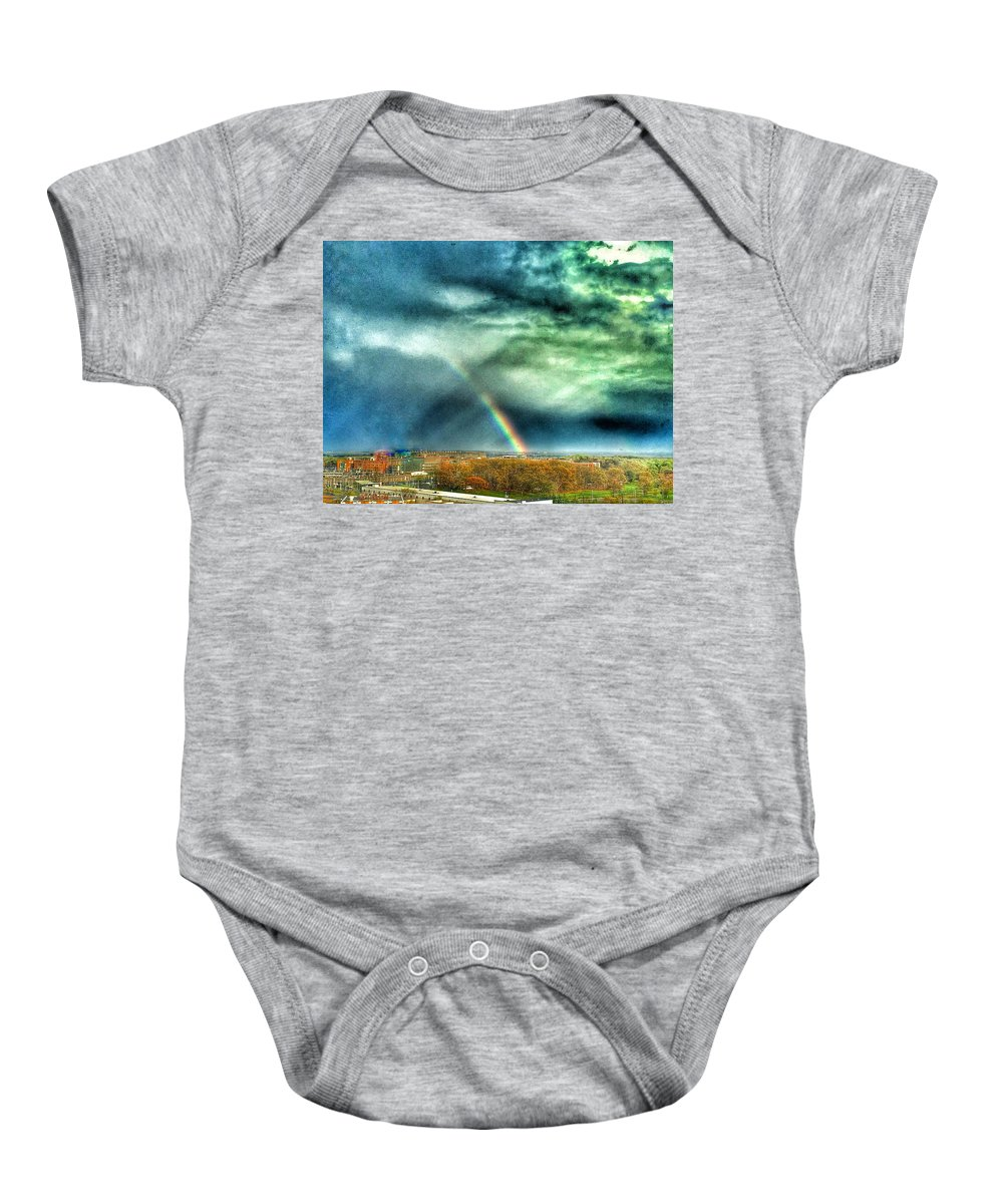 Rainbow Baby Onesie featuring the photograph Bow by Kate McGlynn