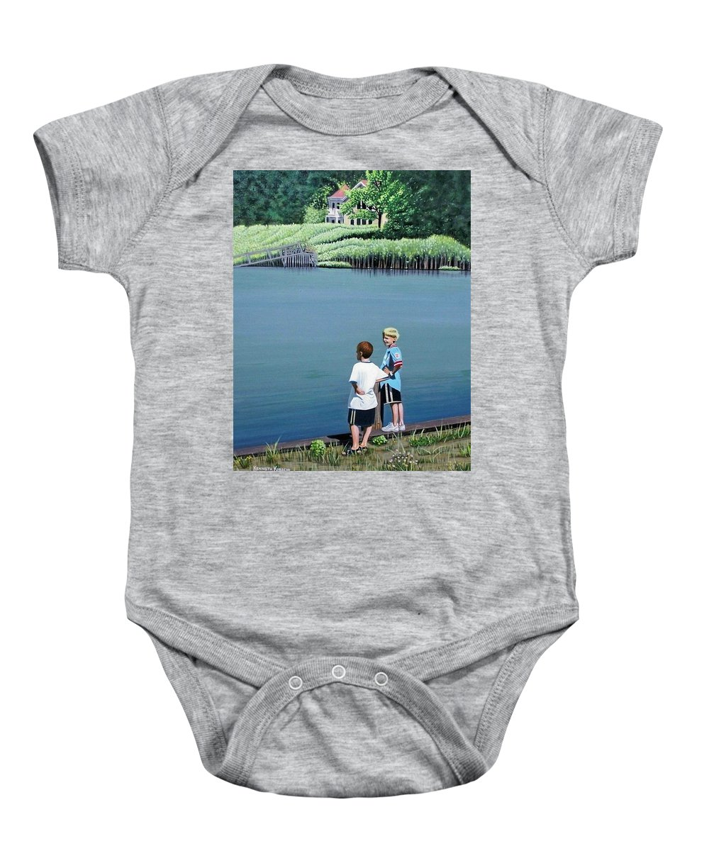 Landscape Baby Onesie featuring the painting Boys Of Summer by Kenneth M Kirsch
