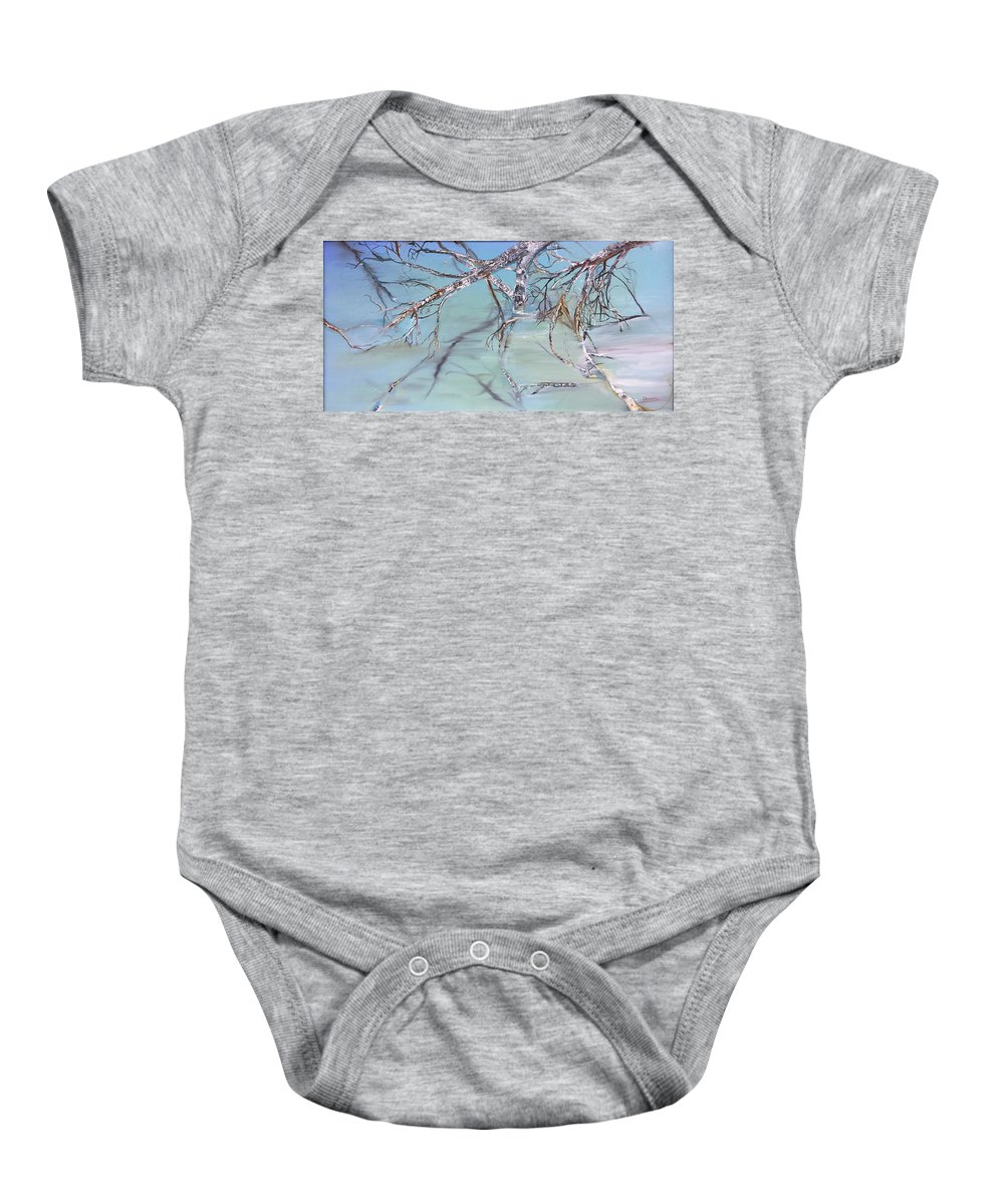 Jack Baby Onesie featuring the painting Branches by Jack Diamond
