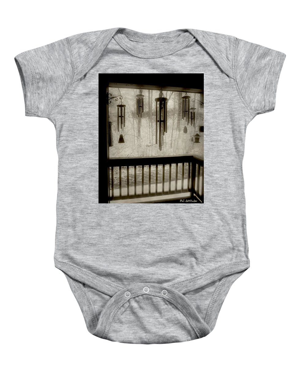 Balcony Baby Onesie featuring the photograph Breathe Deep The Gathering Gloom by RC DeWinter