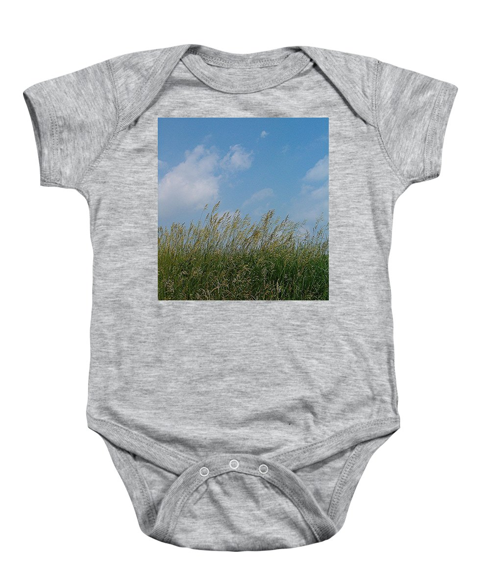 Sky Baby Onesie featuring the photograph Breezy Day by Sara Raber