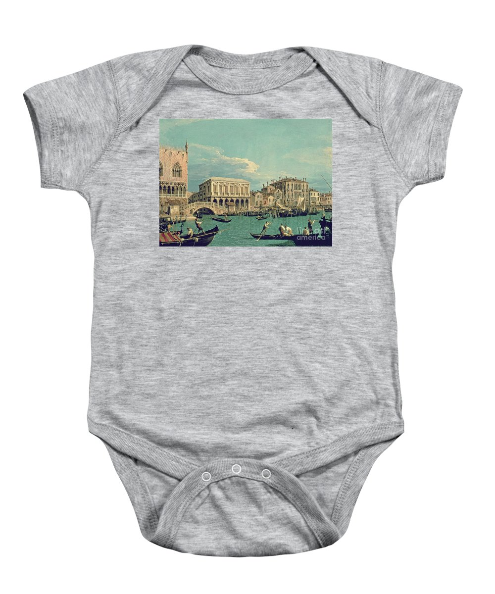 Canaletto Baby Onesie featuring the painting Bridge Of Sighs by Canaletto