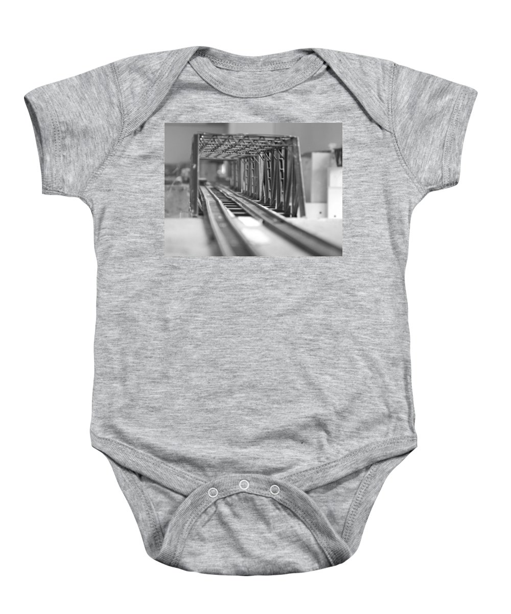 Models Baby Onesie featuring the photograph Bridge To Jerry Town by Margaret Fortunato