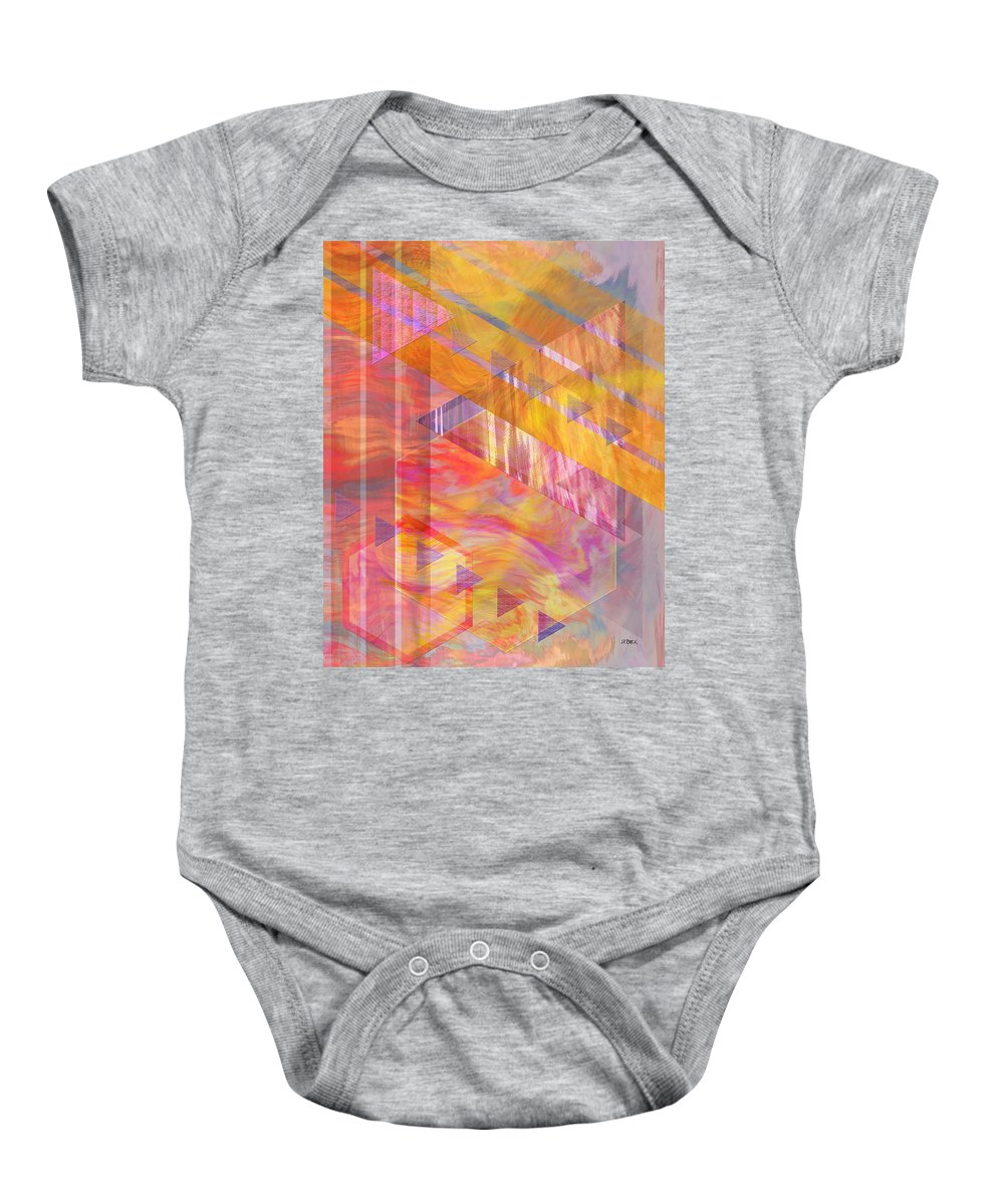 Affordable Art Baby Onesie featuring the digital art Bright Dawn by John Beck