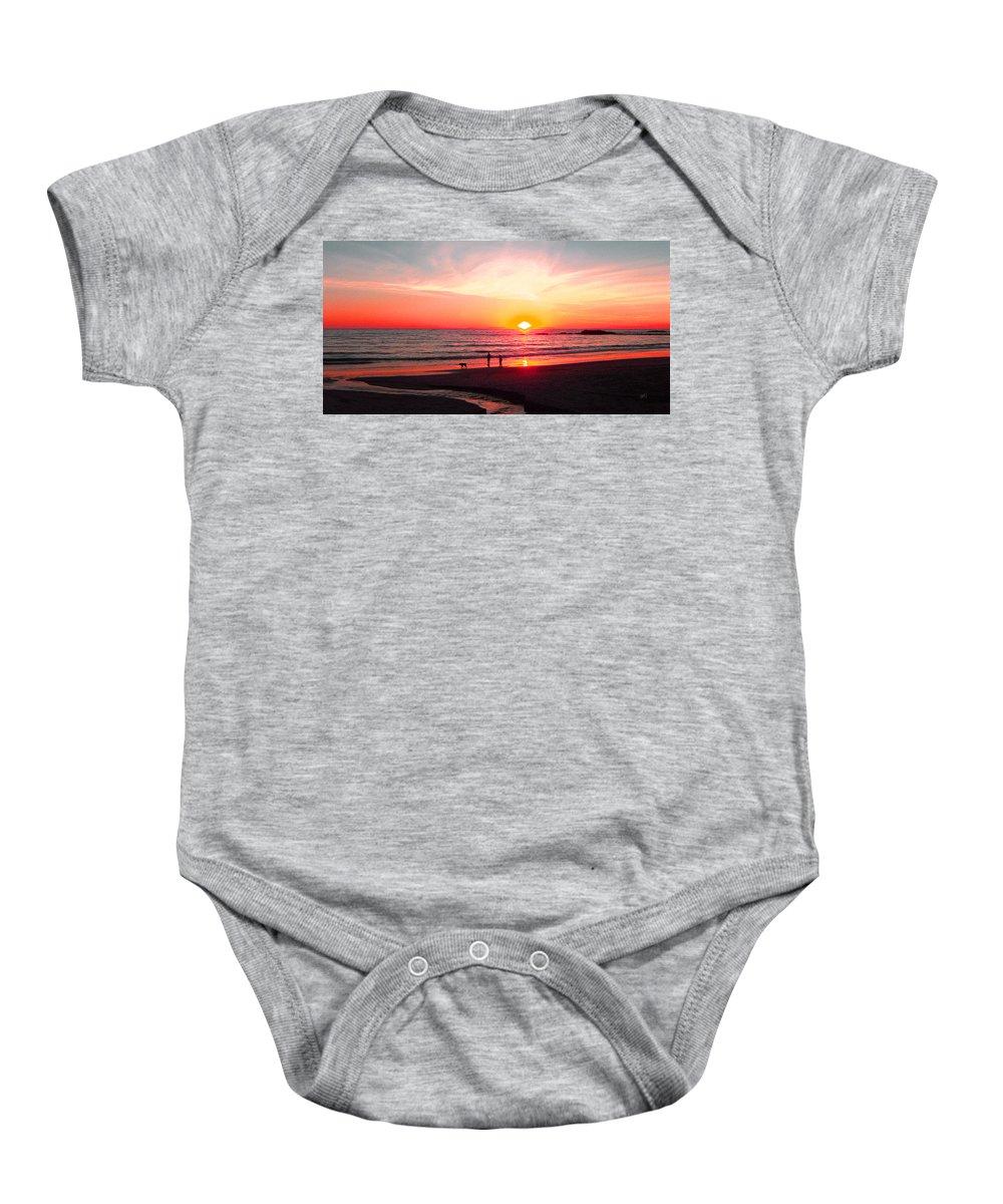 Sunset Baby Onesie featuring the photograph Bright Sunset by Ben and Raisa Gertsberg