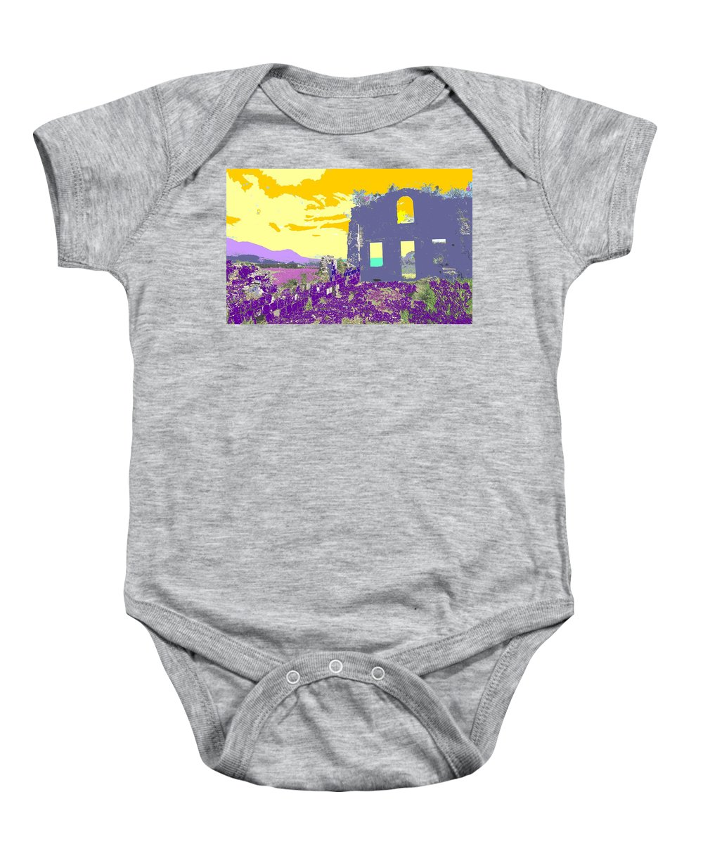 Brimstone Baby Onesie featuring the photograph Brimstone Sunset by Ian MacDonald