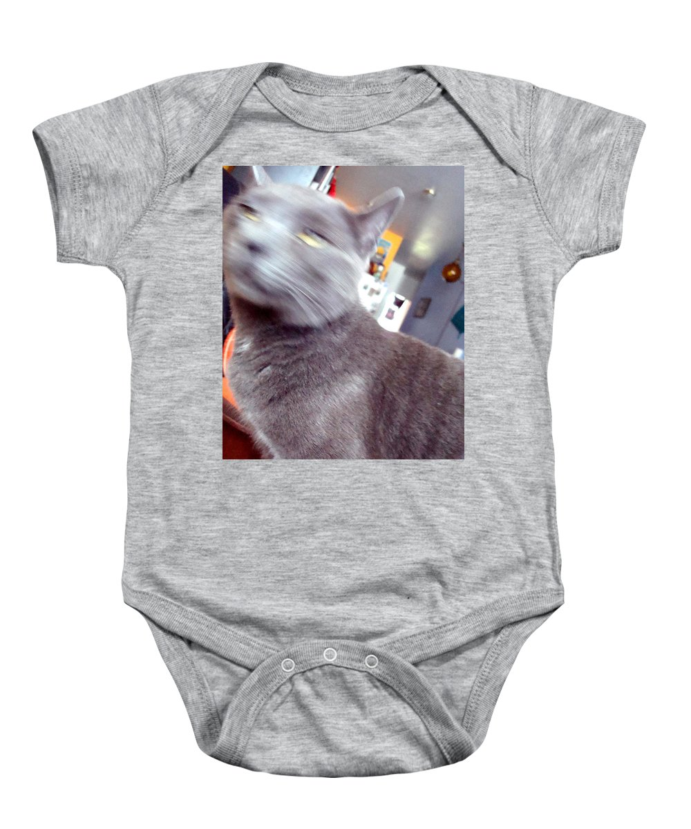 Cat Baby Onesie featuring the photograph Brooklyn Cat by Joseph Mari
