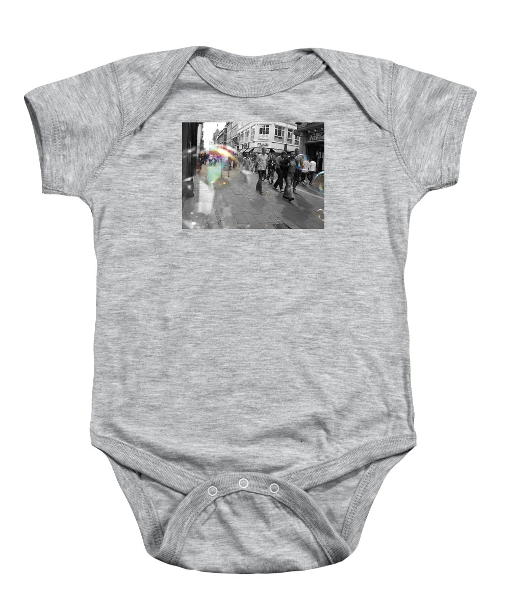 Photography Baby Onesie featuring the photograph Bubbles. Copenhagen. 2 by Cristina Rettegi