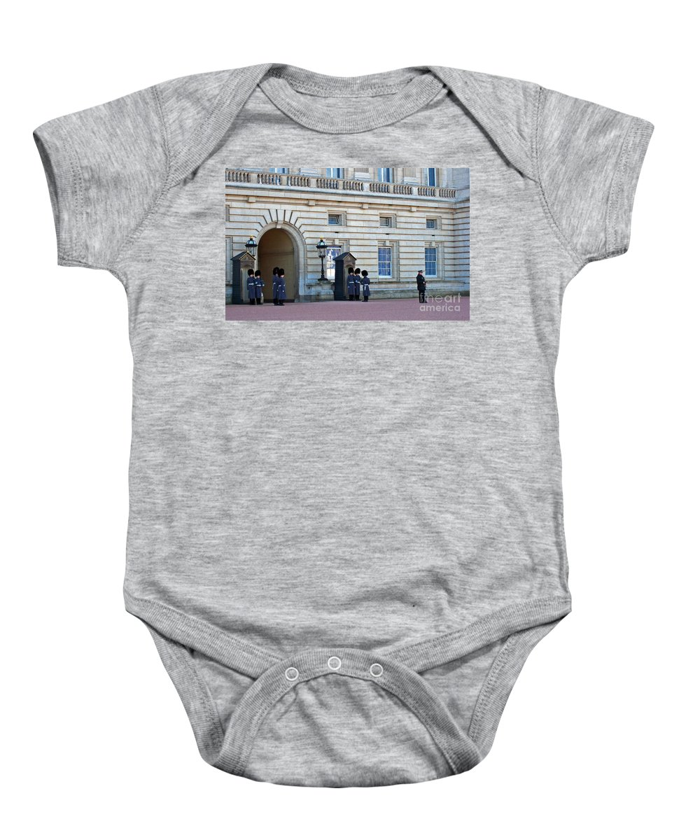 London Baby Onesie featuring the photograph Buckingham Palace Guards by Madeline Ellis