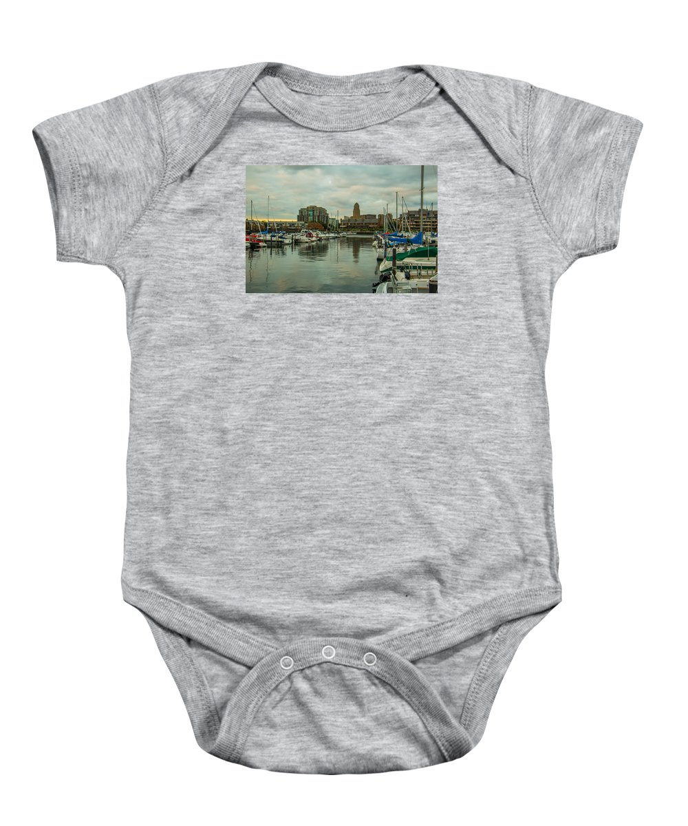 Baby Onesie featuring the photograph Buffalo New York by Shane Phillips