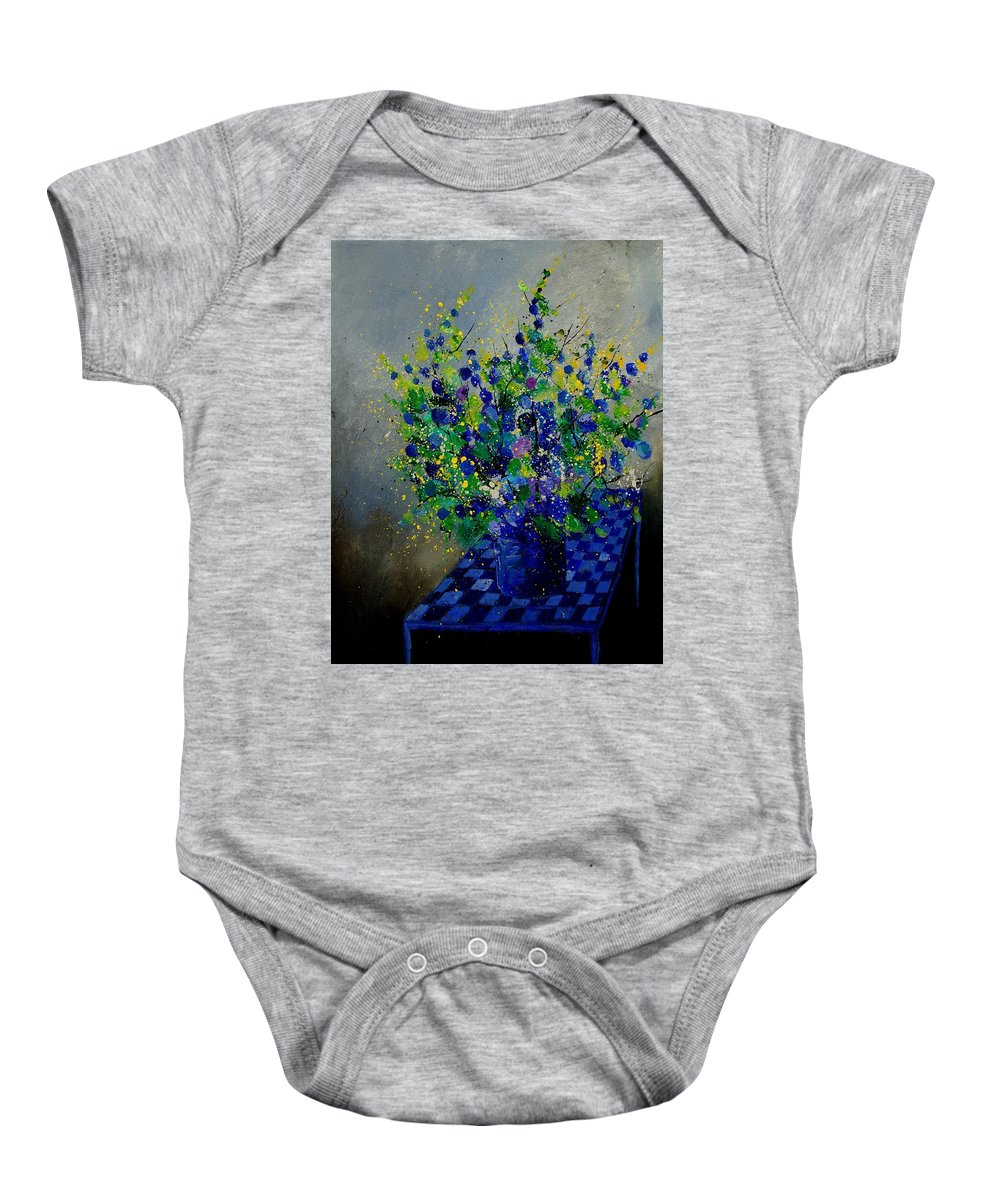 Flowers Baby Onesie featuring the painting Bunch 9020 by Pol Ledent