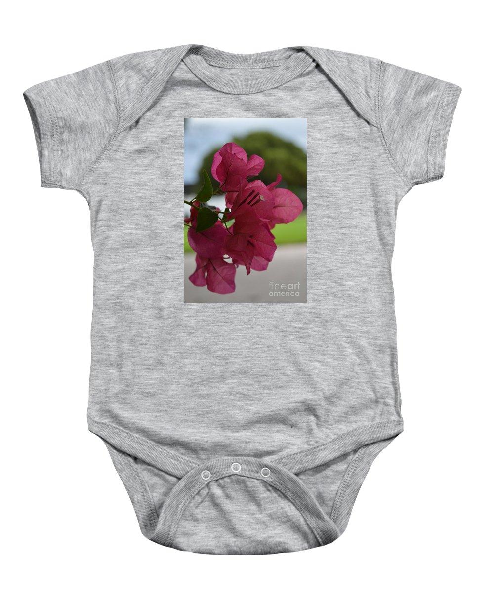 Baby Onesie featuring the photograph Burganvilia by Lenin Caraballo