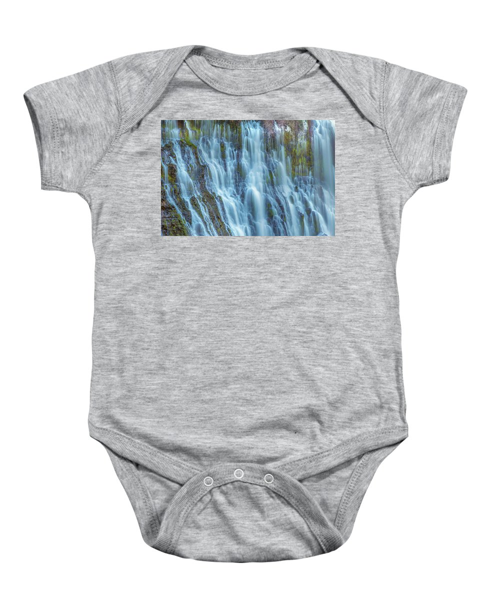 Landscape Baby Onesie featuring the photograph Burney Falls Detail by Marc Crumpler