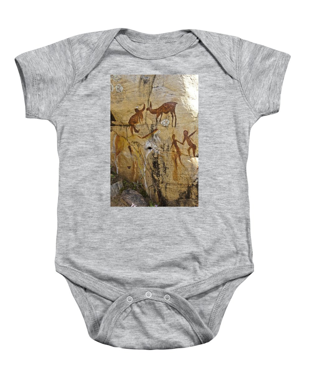 Africa Baby Onesie featuring the photograph Bushman Painting by Michele Burgess