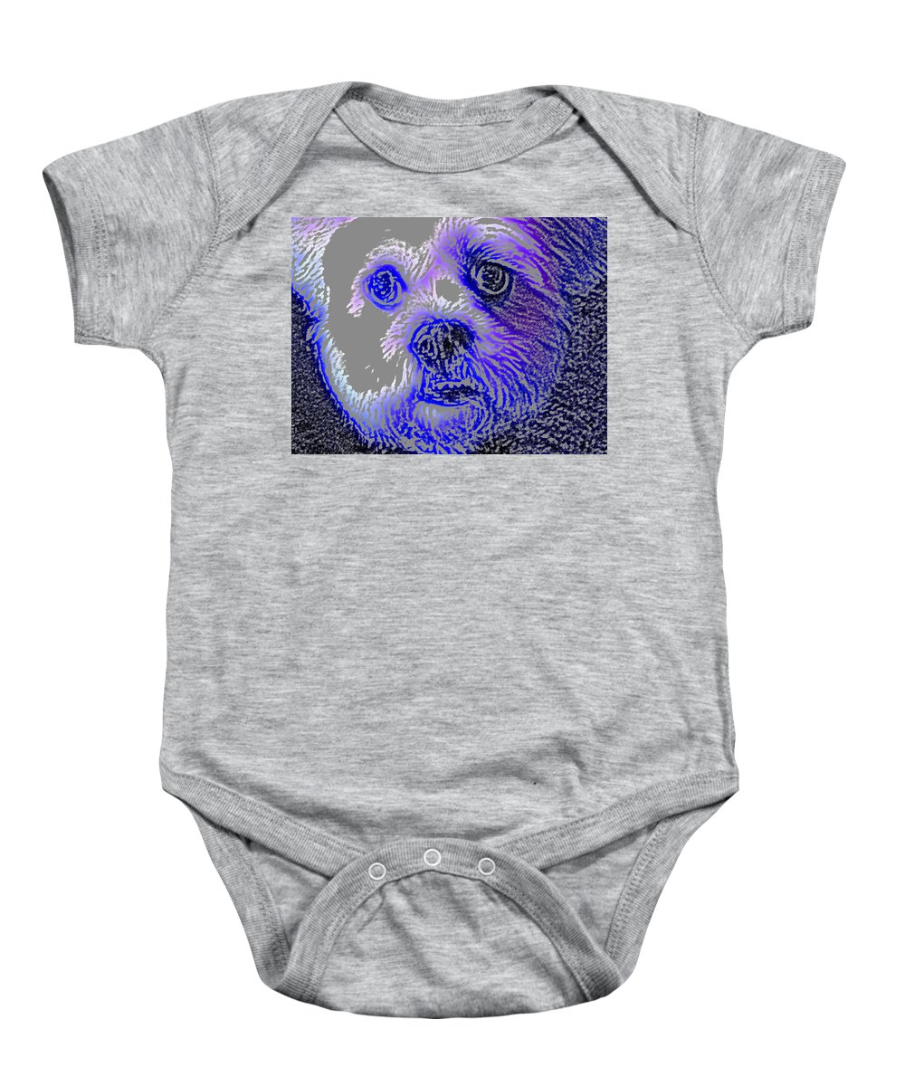 Dog Baby Onesie featuring the photograph Buster Photo by Wayne Potrafka
