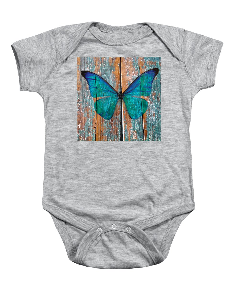 Butterfly Baby Onesie featuring the photograph Butterfly Exhibition 1 by Anthony Robinson