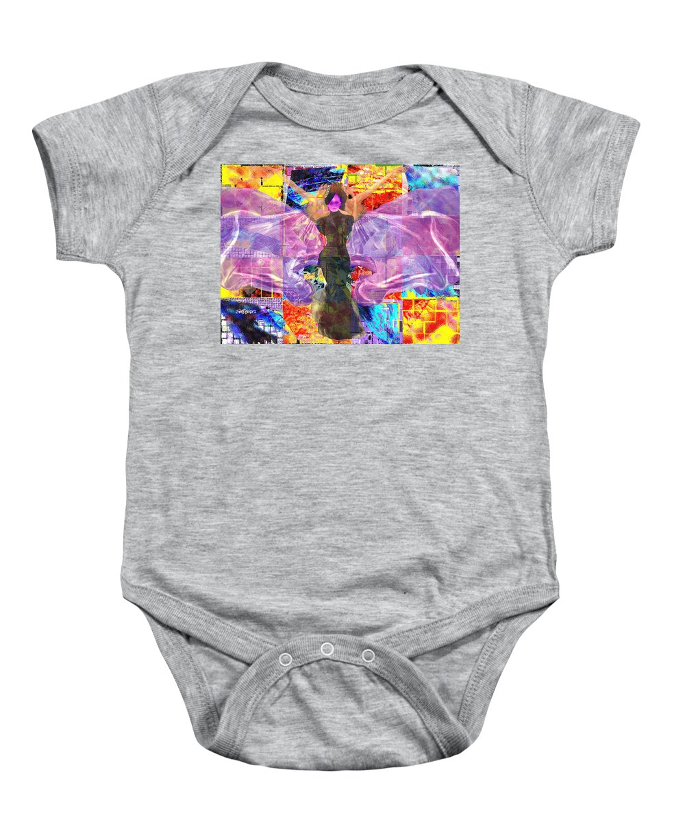 Butterfly Baby Onesie featuring the digital art Butterfly Fantasy by Seth Weaver