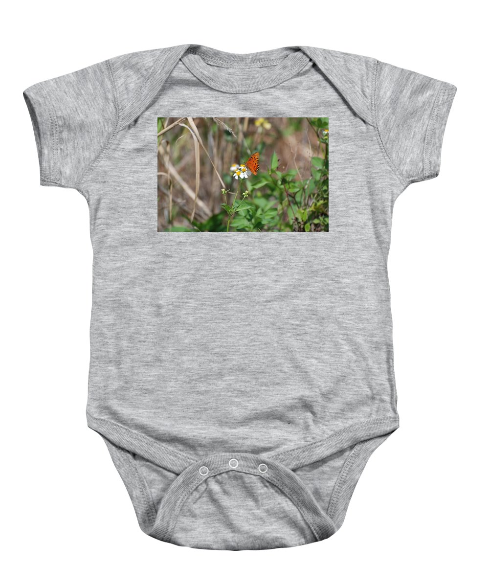 Butterfly Baby Onesie featuring the photograph Butterfly Flower by Rob Hans