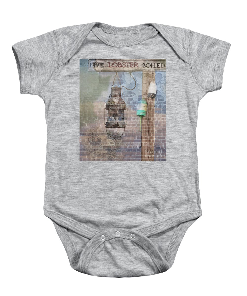 Composite Baby Onesie featuring the photograph By The Sea In Color by Betty LaRue