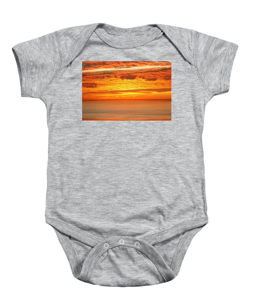 Sunset Baby Onesie featuring the photograph Cabrillo Sunset by Strato ThreeSIXTYFive
