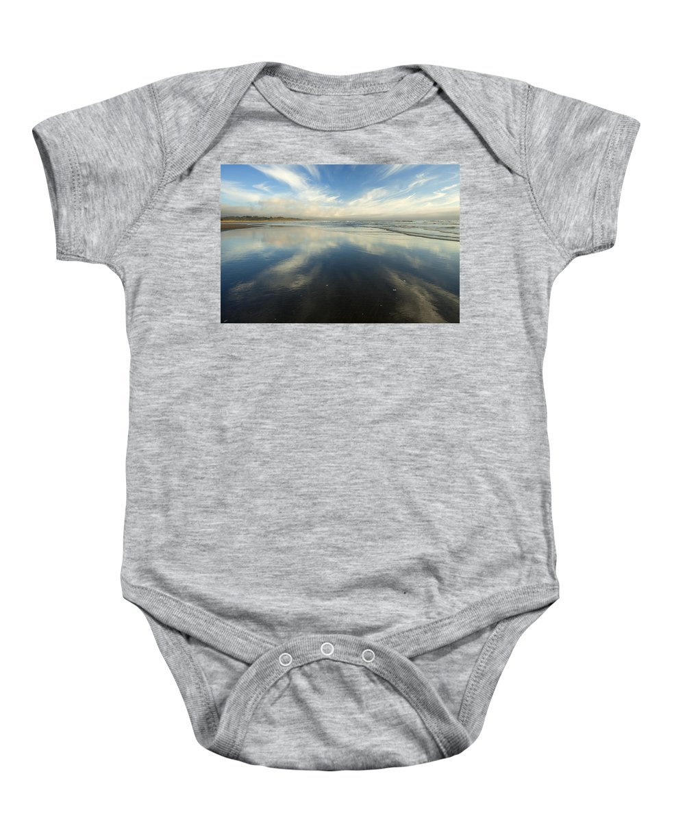 Cirrus Baby Onesie featuring the photograph California Cirrus Explosion by Mike Dawson