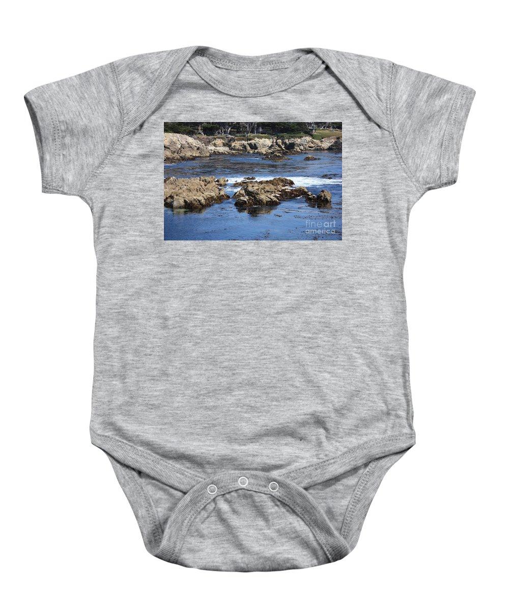 California Seaside Baby Onesie featuring the photograph California Coast by Carol Groenen
