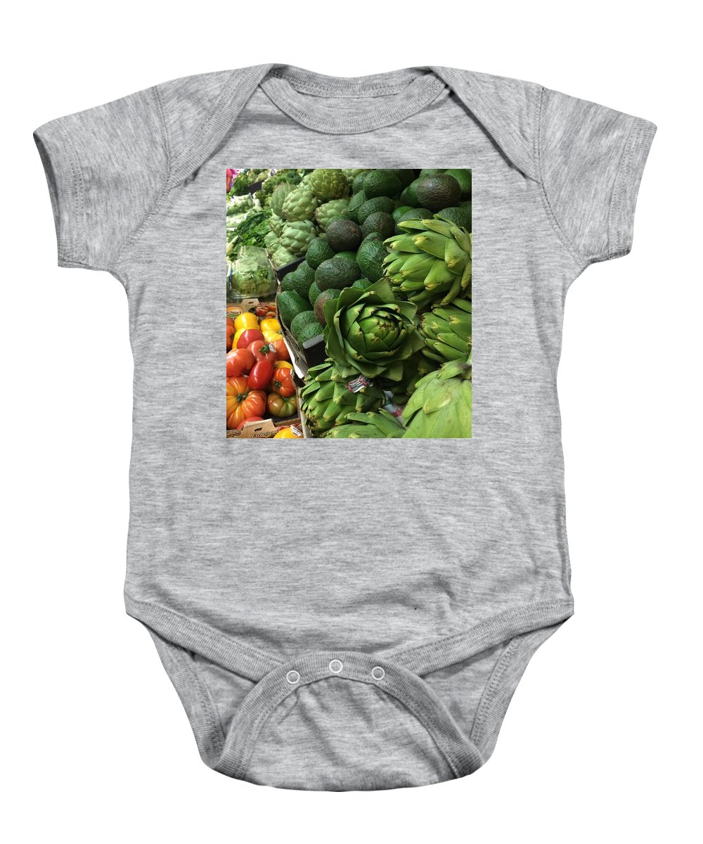 Vegetables Baby Onesie featuring the photograph California Fresh by Darlene D'Amico-Sorci