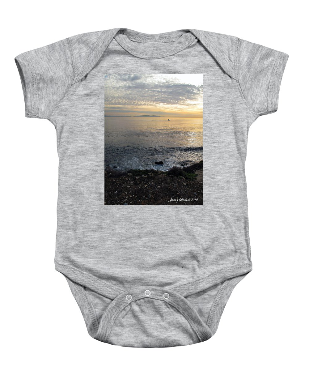 California Baby Onesie featuring the photograph California Sunset by Joan Minchak