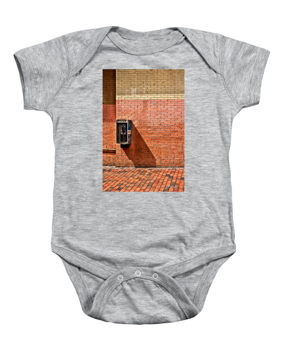 Phone Baby Onesie featuring the photograph Call Me by Christopher Holmes