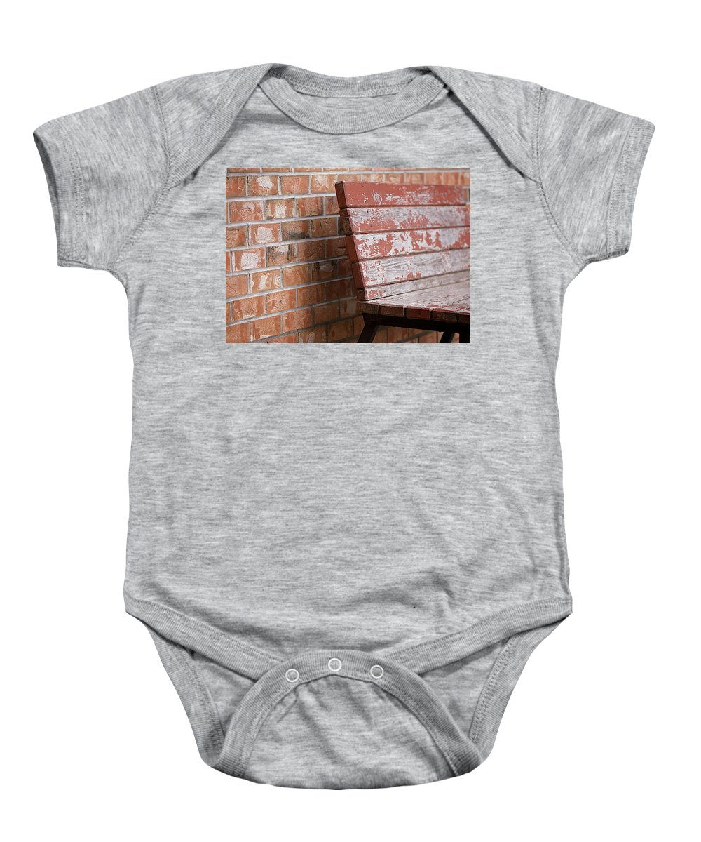 Lisa Knechtel Baby Onesie featuring the photograph Camouflaged By The Elements by Lisa Knechtel