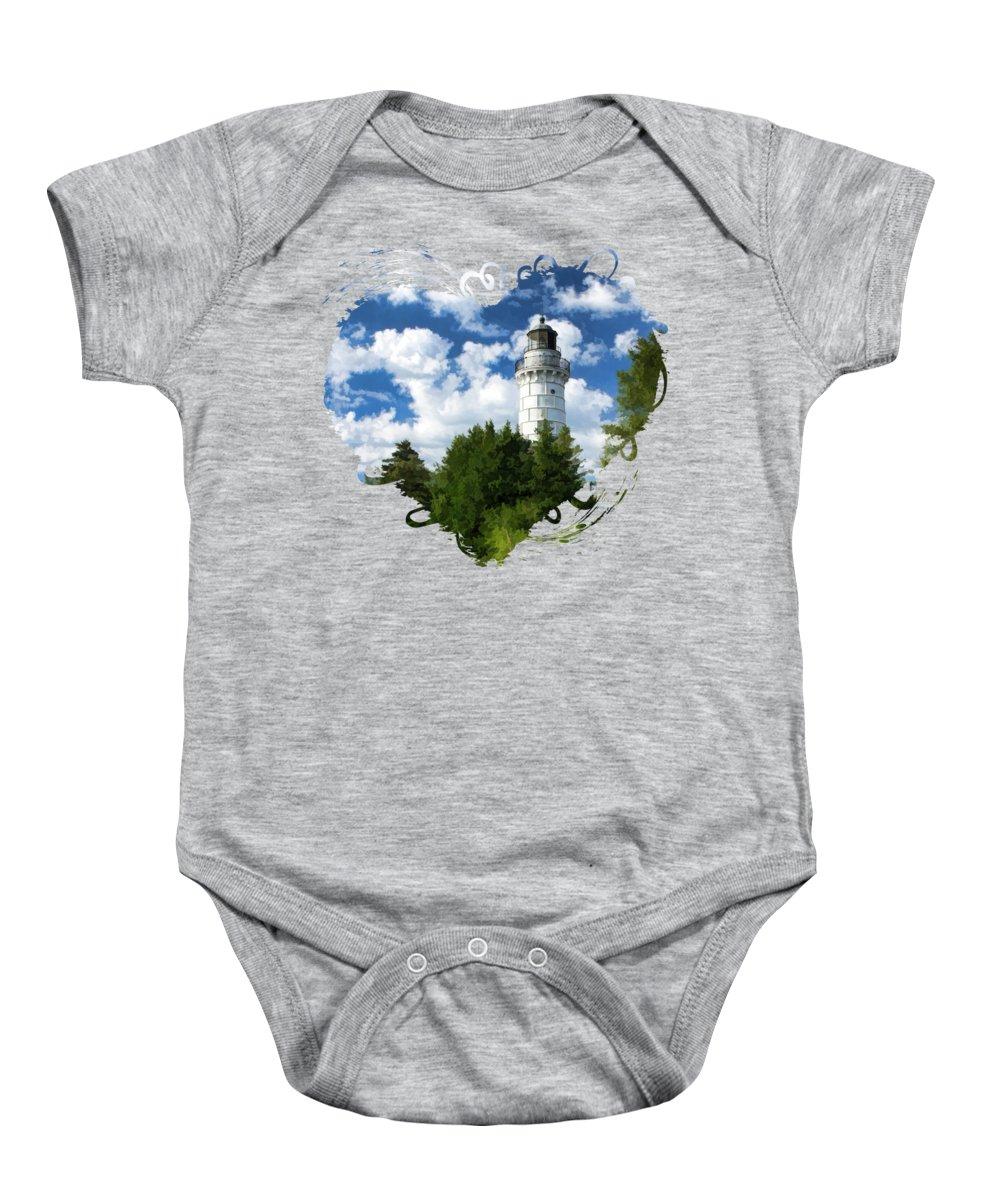 Lake Michigan Baby Onesies