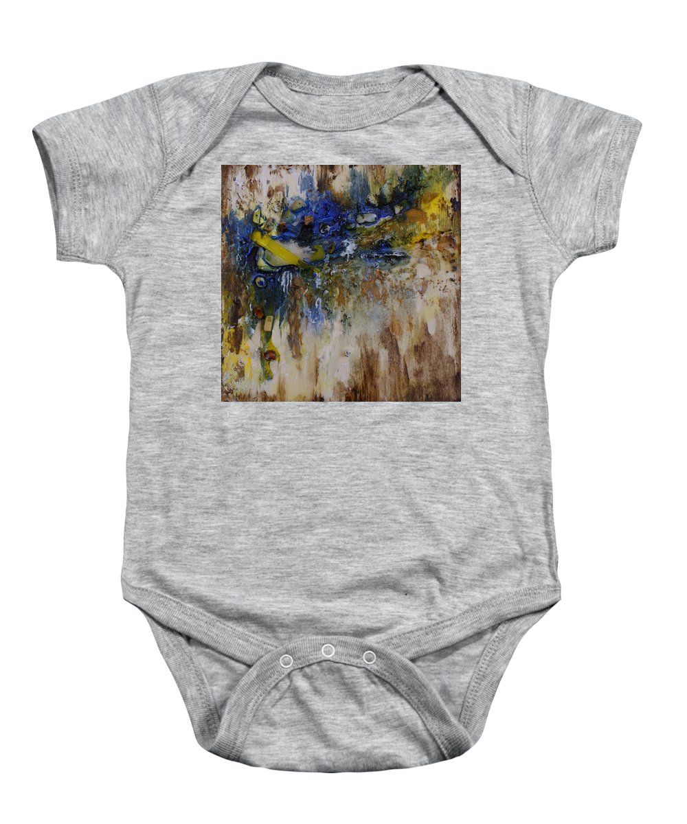 Canadian Shoreline Baby Onesie featuring the painting Canadian Shoreline by Joanne Smoley