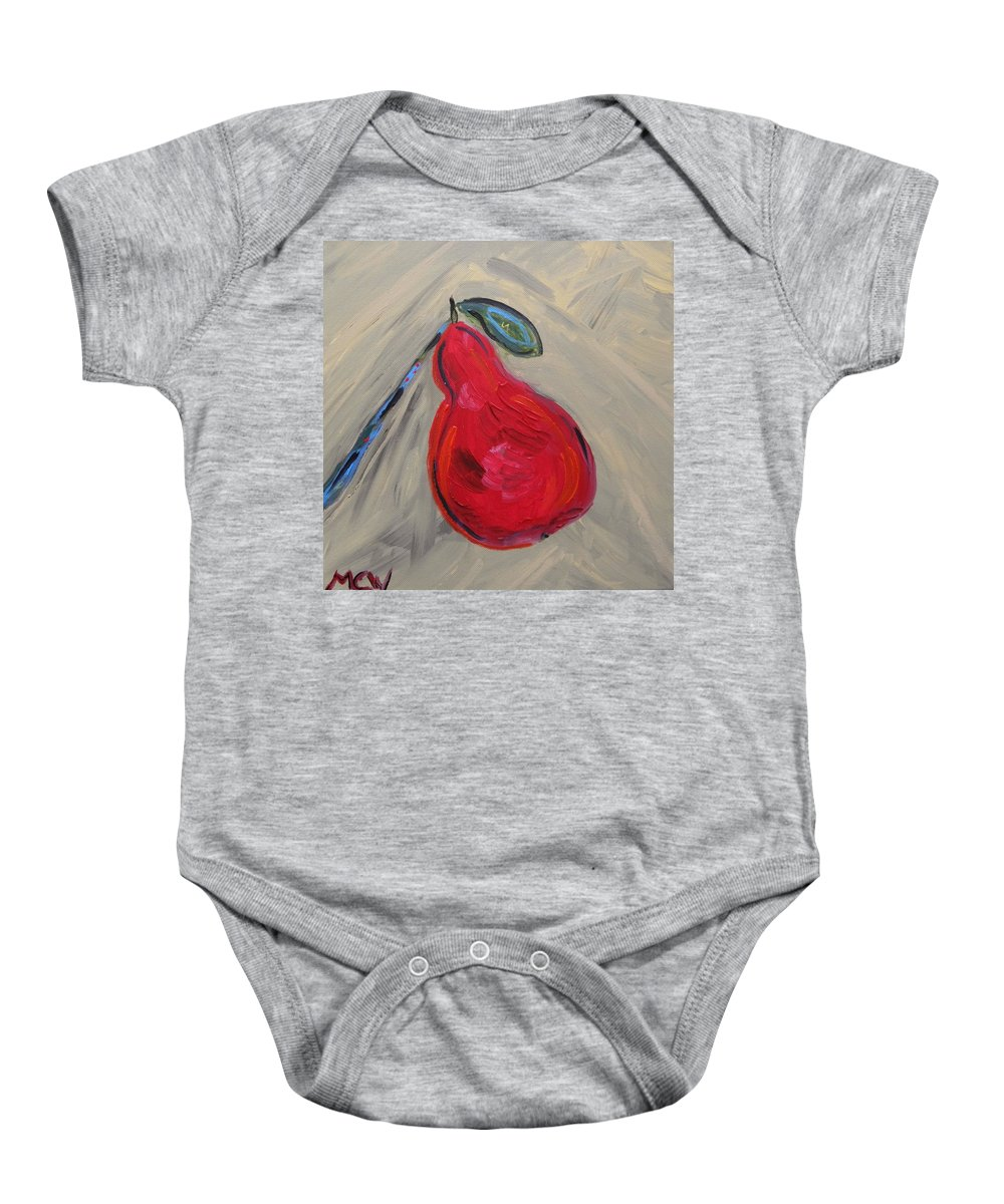 Acrylic Baby Onesie featuring the painting Candy Red by Mary Carol Williams