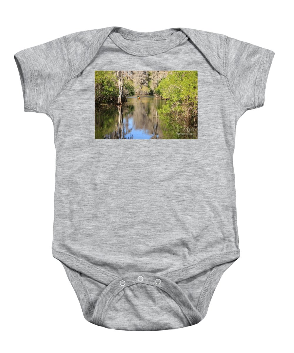 Hillsborough River Baby Onesie featuring the photograph Canoing On Hillsborough River by Carol Groenen