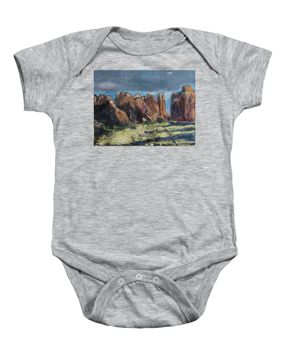 Canyonlands Baby Onesie featuring the painting Canyonlands Utah by Craig Newland
