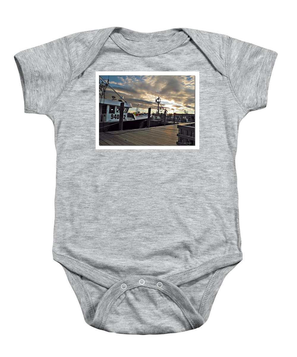 Cape Baby Onesie featuring the photograph Cape Cod Harbor by Joan Minchak