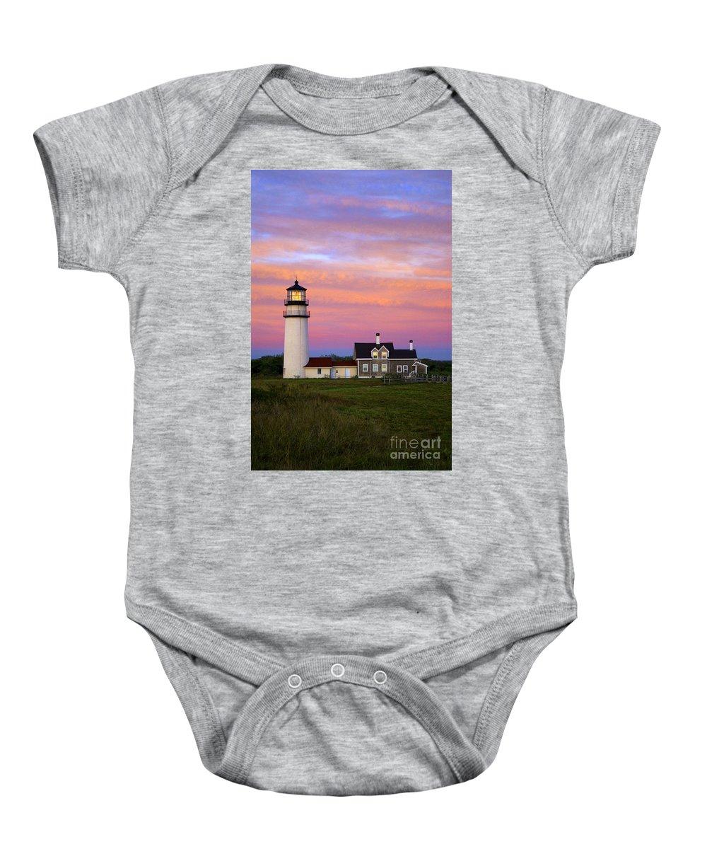 Cape Cod Baby Onesie featuring the photograph Cape Cod Light Truro by John Greim