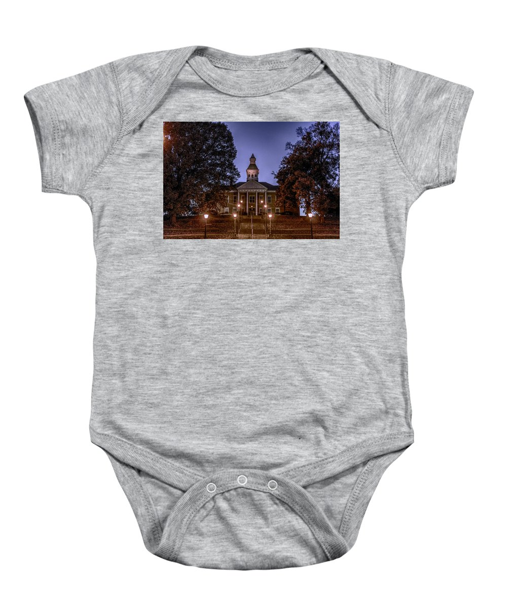 Courthouse Baby Onesie featuring the photograph Cape Courthouse by Robert Cox