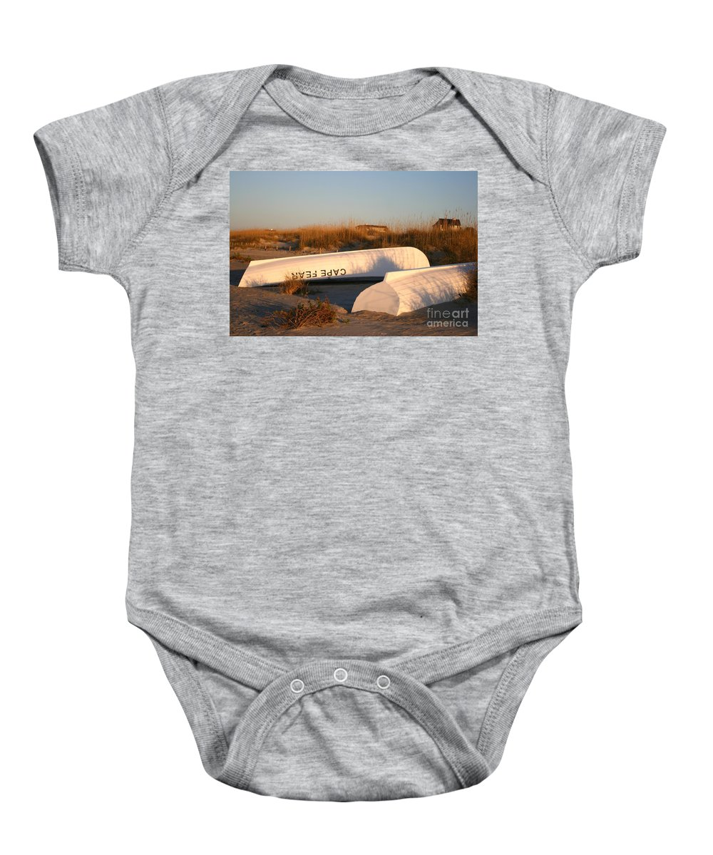 Boats Baby Onesie featuring the photograph Cape Fear Boats by Nadine Rippelmeyer