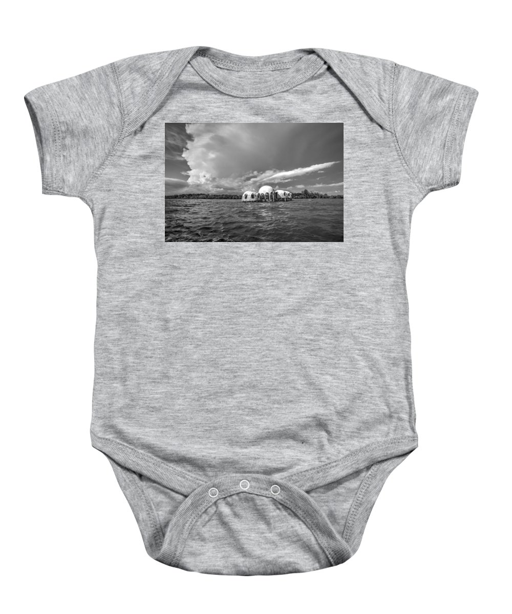 Landscapes Baby Onesie featuring the photograph Cape Romano Bw by Joey Waves
