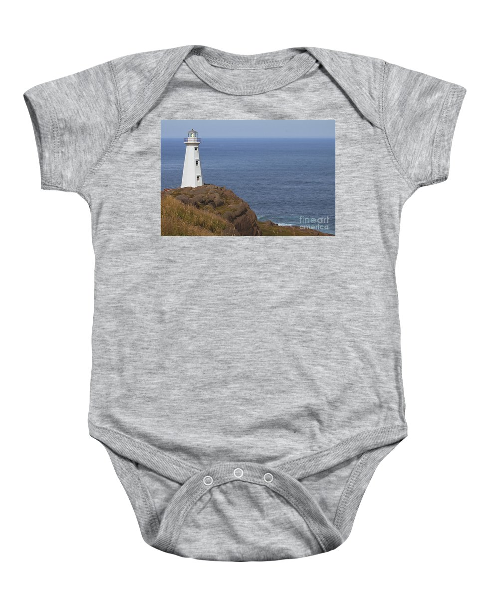 Lighthouse Baby Onesie featuring the photograph Cape Spear by Eunice Gibb