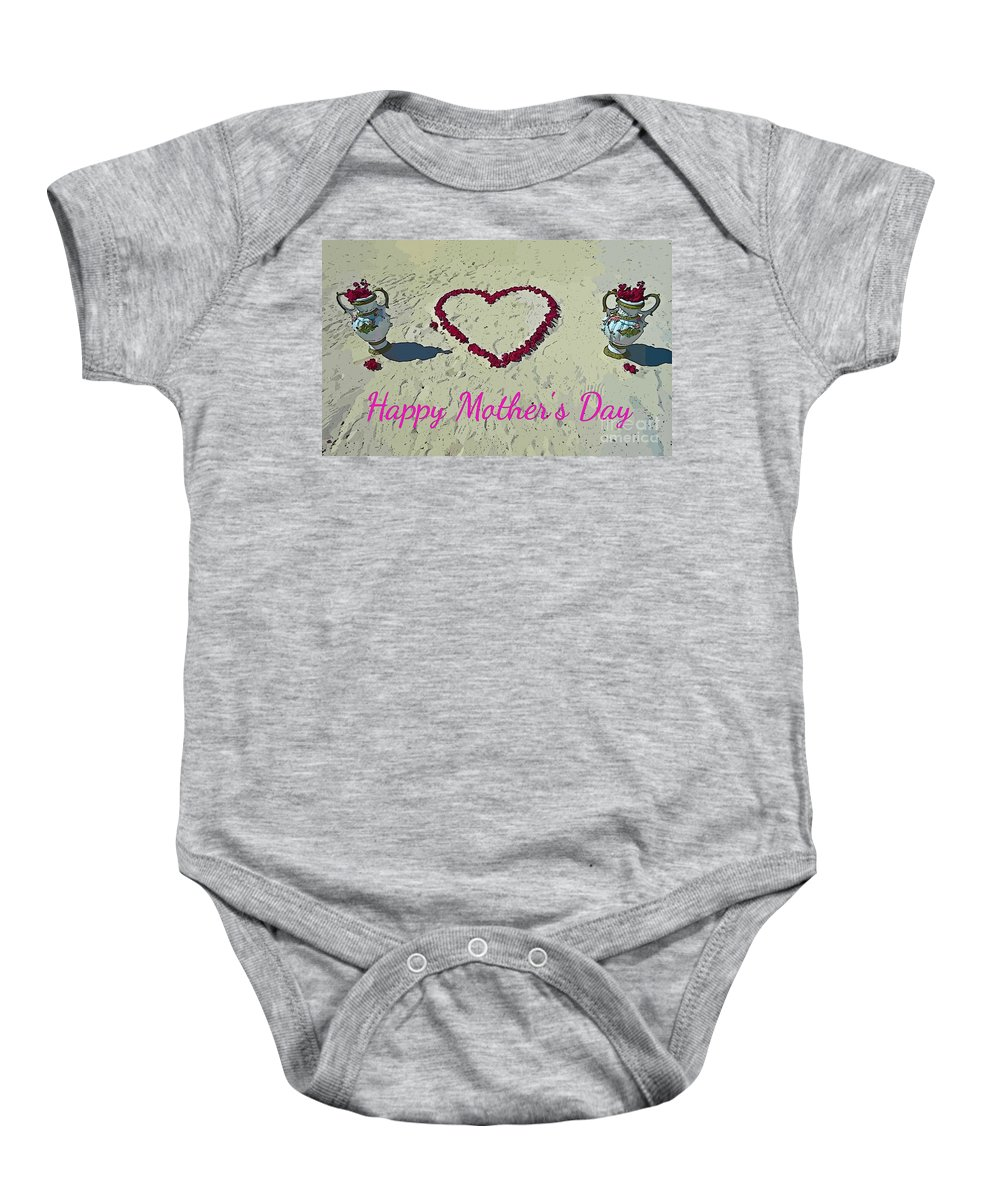 Card For Mothers Day Baby Onesie featuring the photograph Card For Mothers Day by John Malone