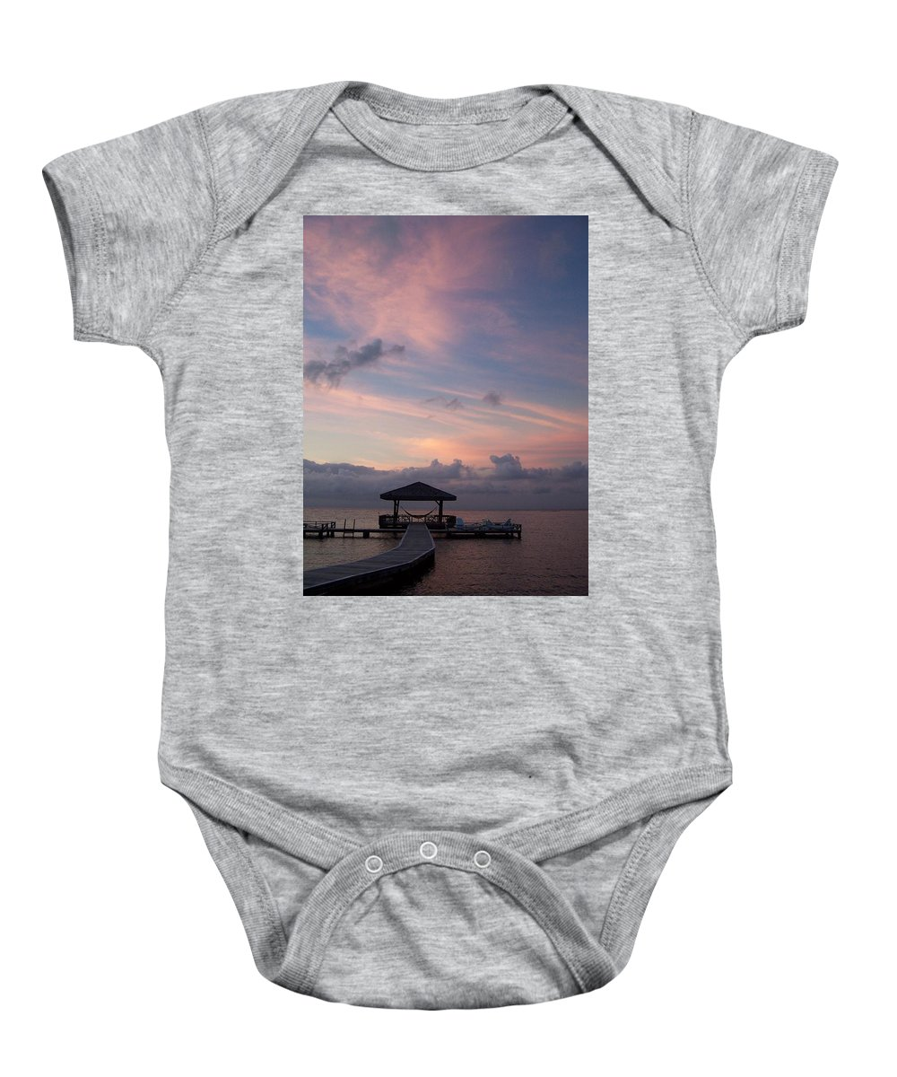 Ocean Baby Onesie featuring the photograph Caribbean Sunrise by Gale Cochran-Smith