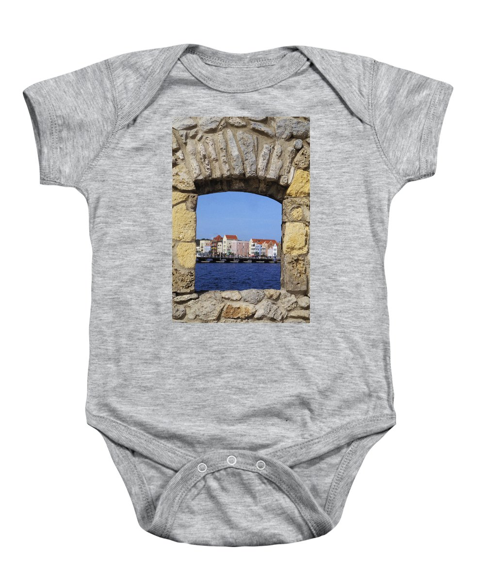 Architecture Baby Onesie featuring the photograph Caribbean View by Bill Bachmann - Printscapes