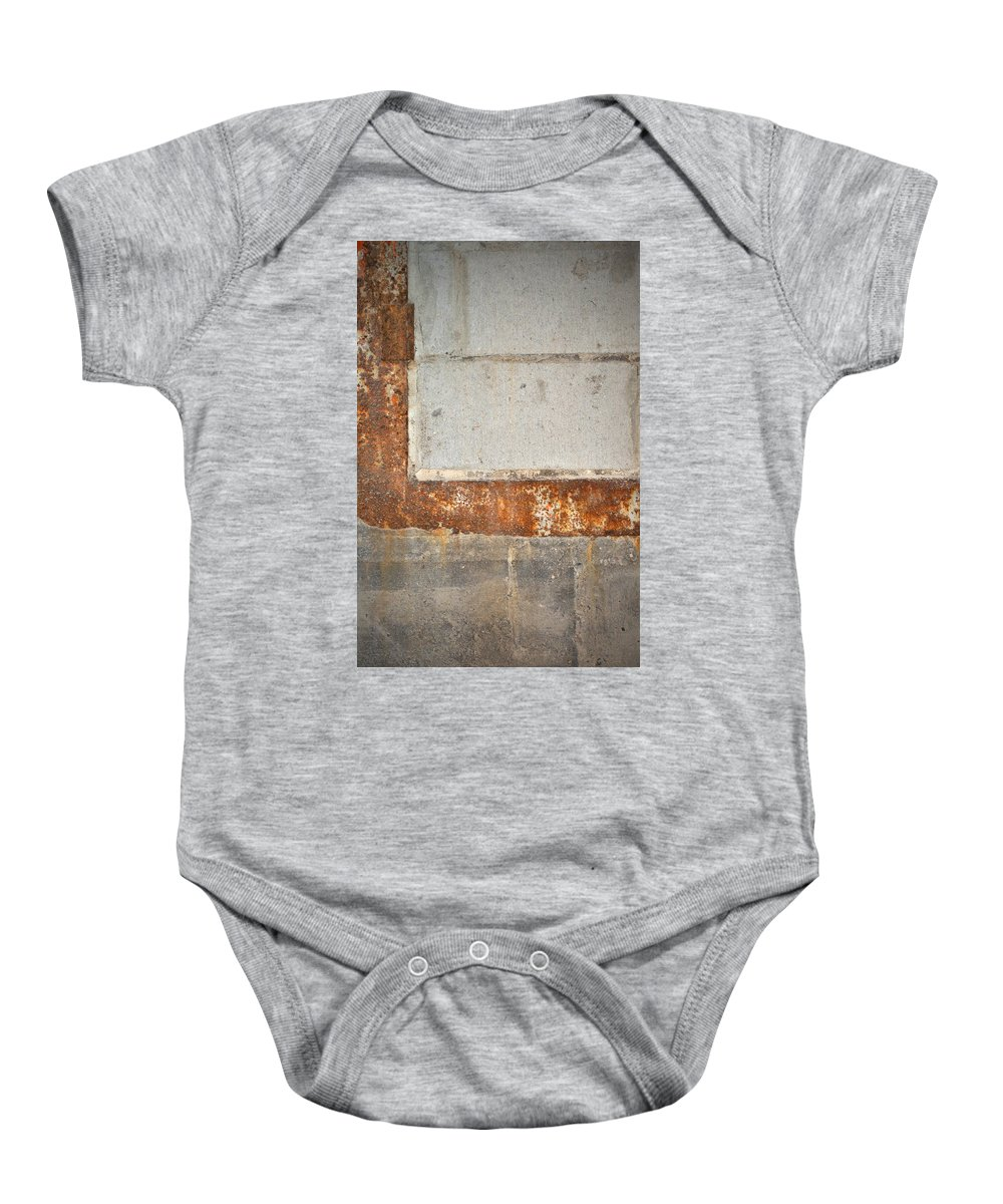 Architecture Baby Onesie featuring the photograph Carlton 14 - Abstract Concrete Wall by Tim Nyberg