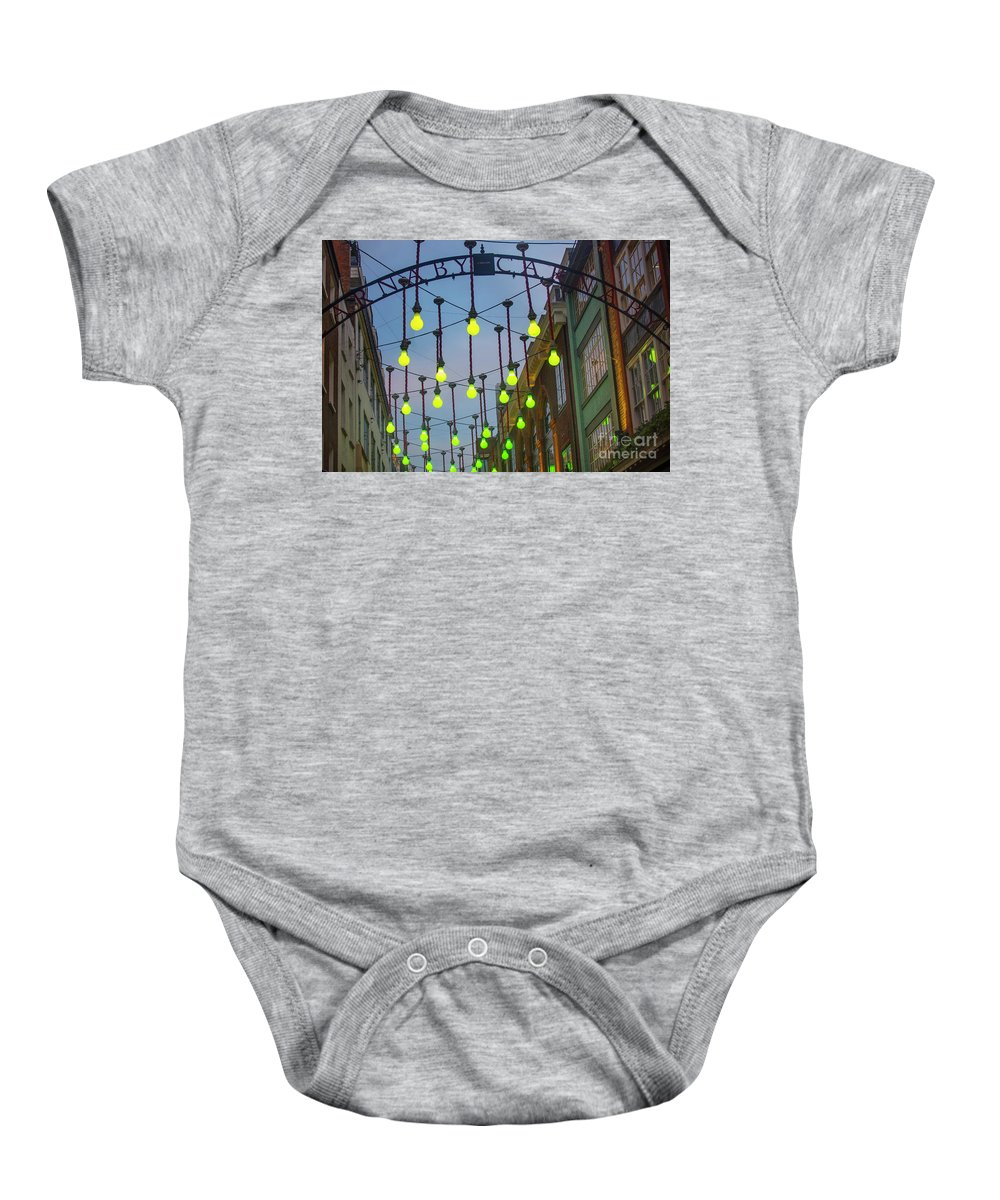 Carnaby Street London Baby Onesie featuring the photograph Carnaby Street London 2 by Alex Art and Photo