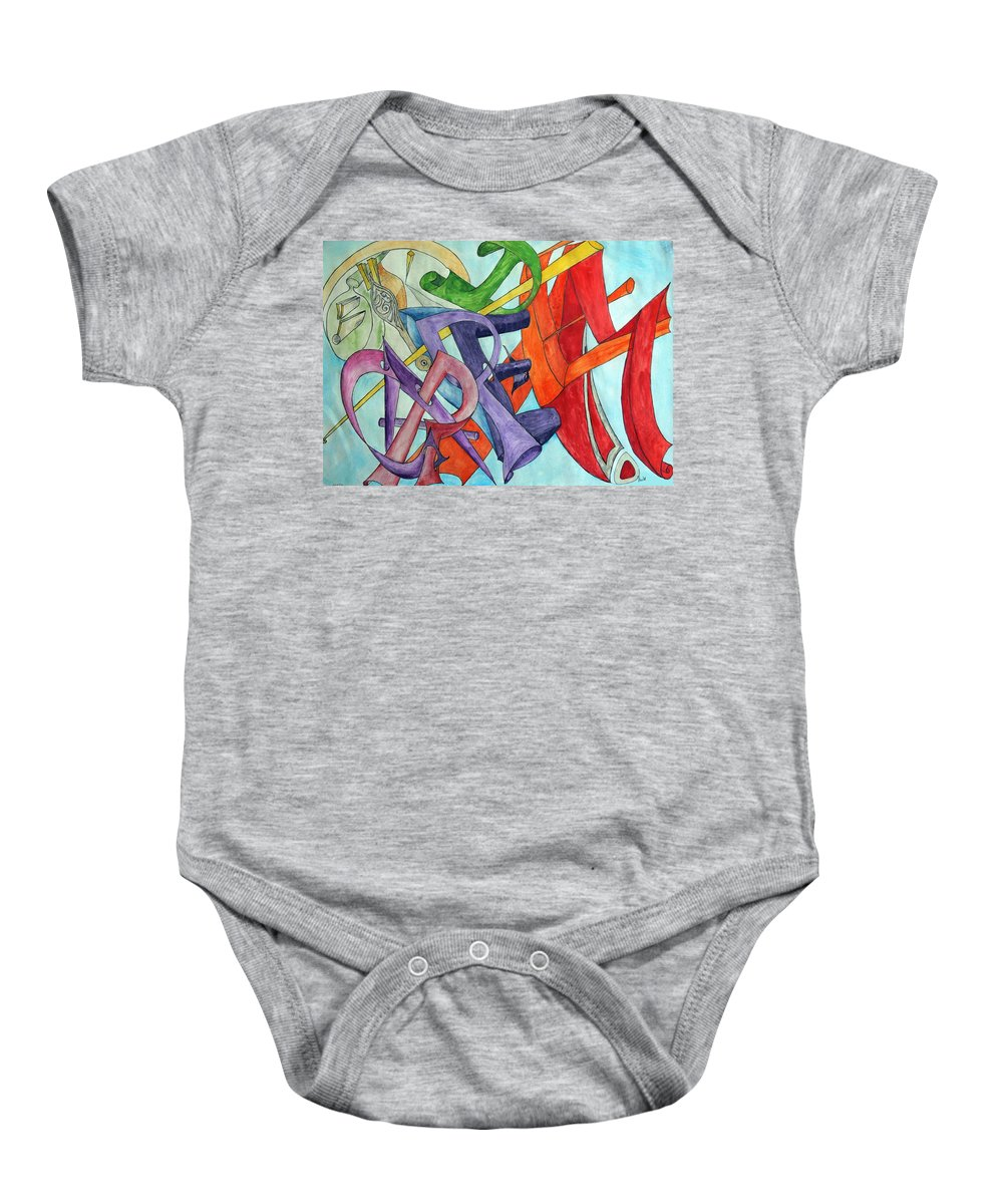 Carpe Diem Baby Onesie featuring the painting Carpe Diem by Helmut Rottler