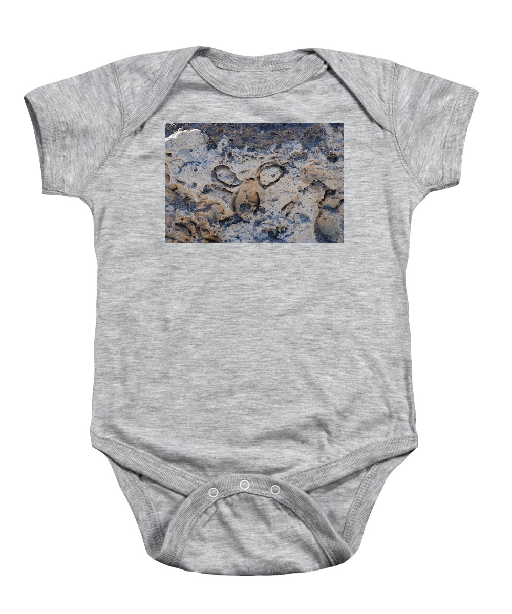 Ocean Baby Onesie featuring the photograph Carved Catface by Rob Hans