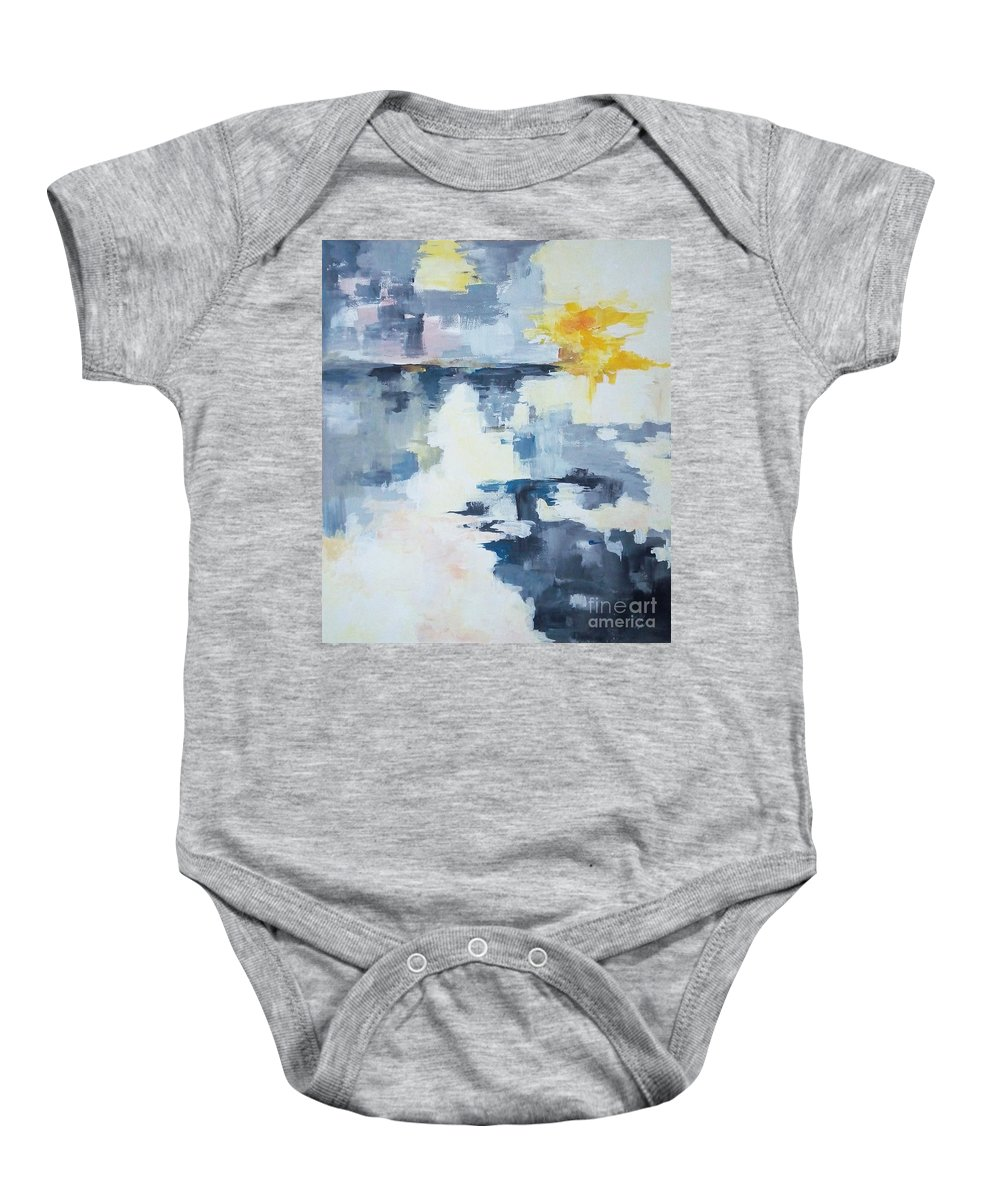 Acrylic Baby Onesie featuring the painting Cast Nets by Eszter Benyo